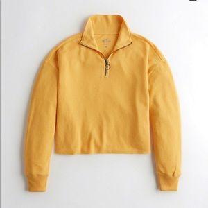 Hollister half zip jacket